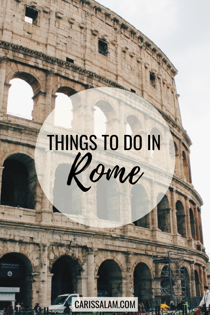 things to do in Rome pin
