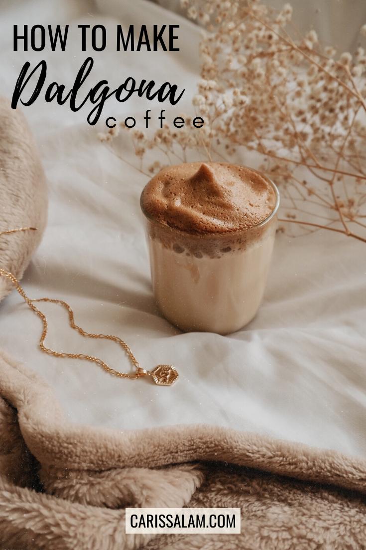 how to make dalgona coffee