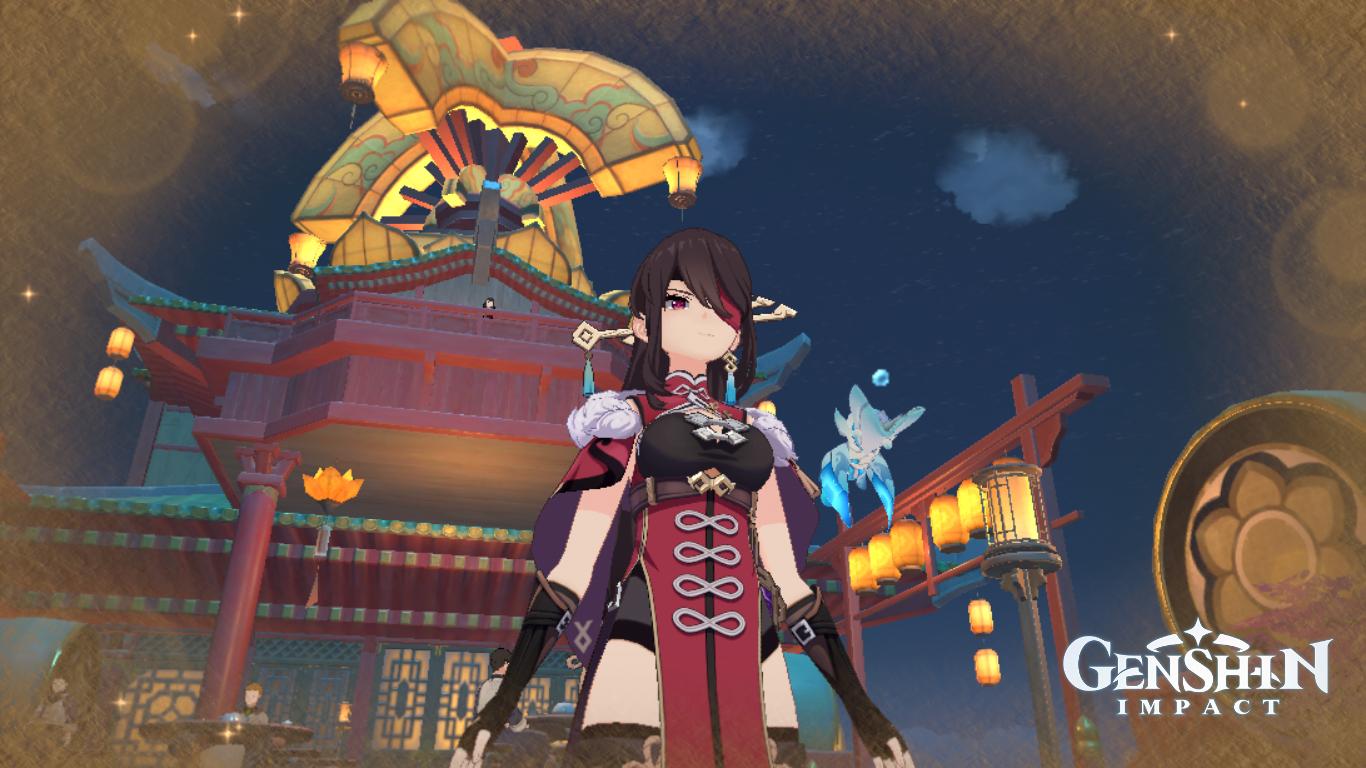 Carissa's screen capture of Genshin Impact game